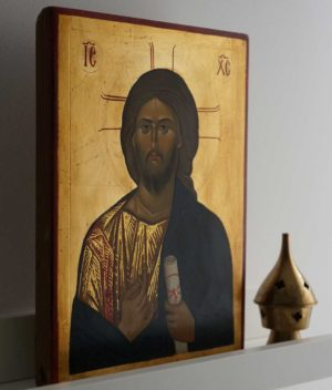 Jesus Christ - Vatopedi Monastery Greek Hand-Painted Icon