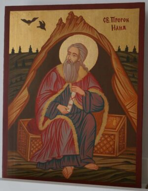 Prophet Elias Elijah Hand Painted Byzantine Orthodox Icon On Wood