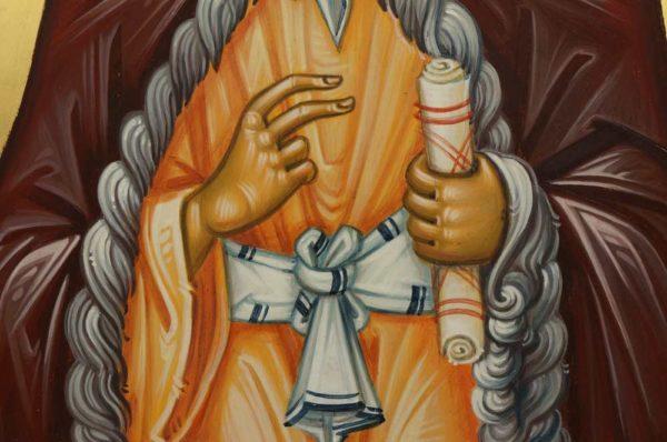 Prophet Elijah (engraved halo) Elias Hand-Painted Greek Orthodox Icon