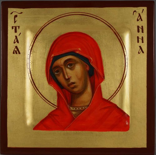 Saint Anna Miniature Hand-Painted Orthodox Icon