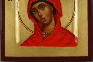 Saint Anna Miniature Hand-Painted Orthodox Icon