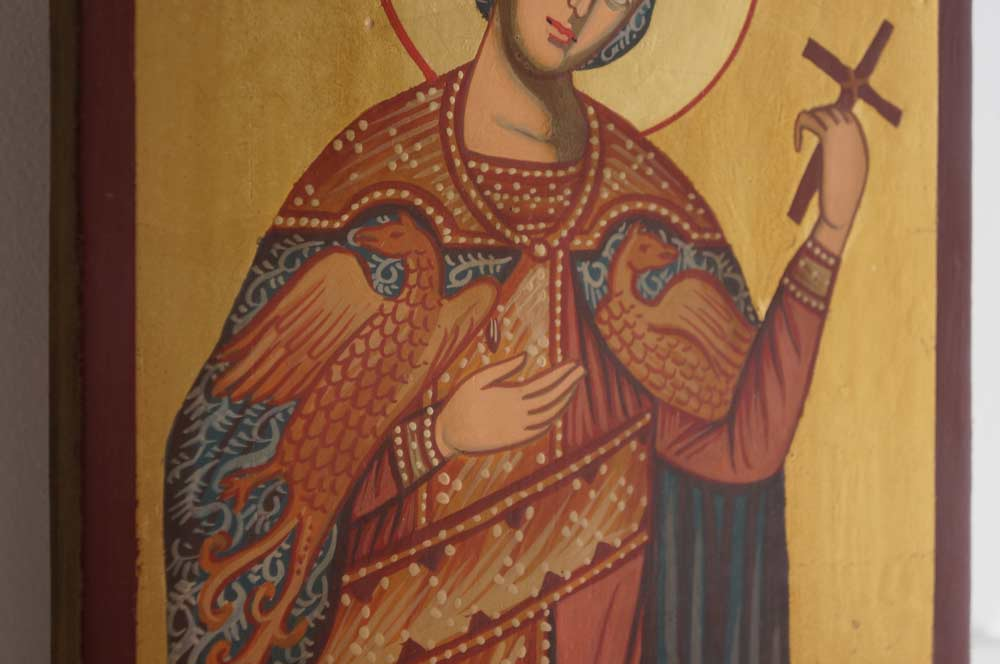 St Catherine of Alexandria Hand-Painted Byzantine Icon