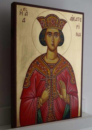 St Catherine of Alexandria Hand-Painted Byzantine Icon