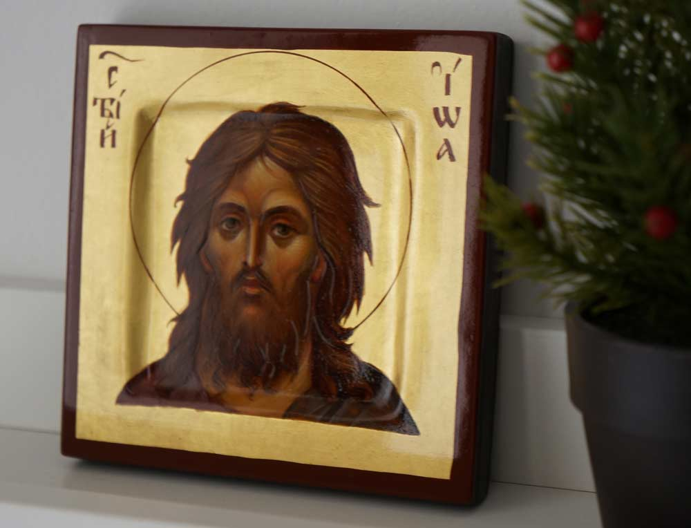 St John the Baptist Miniature Hand-Painted Orthodox Icon