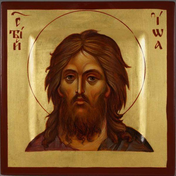St John the Baptist Miniature Hand-Painted Orthodox Icon