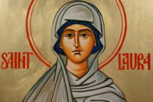 St Saint Laura Hand-Painted Orthodox Icon