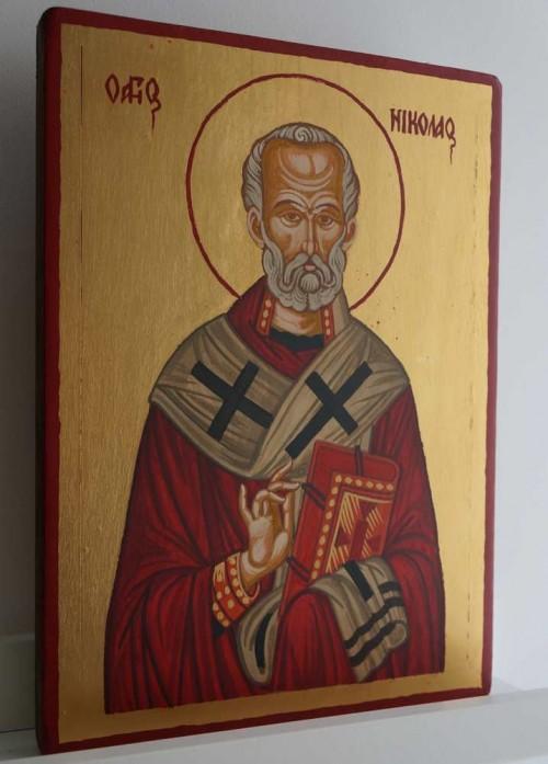 St Nicholas of Myra Hand-Painted Greek Orthodox Icon