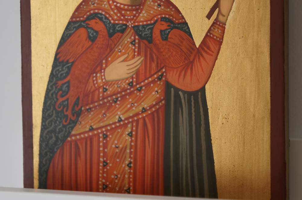 St Catherine of Alexandria small Hand Painted Orthodox Icon on Wood