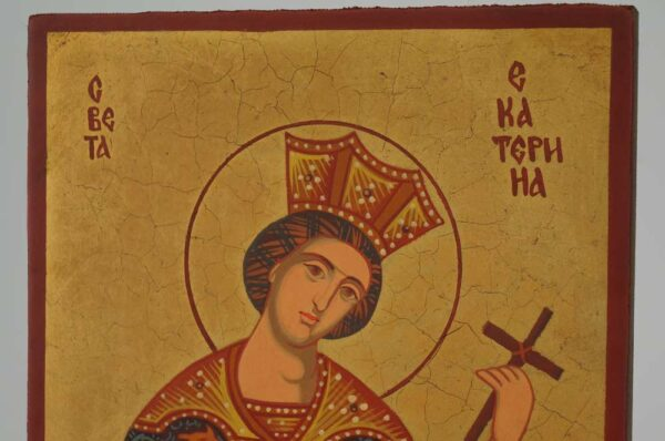 St Catherine of Alexandria small Icon Hand Painted Byzantine Orthodox