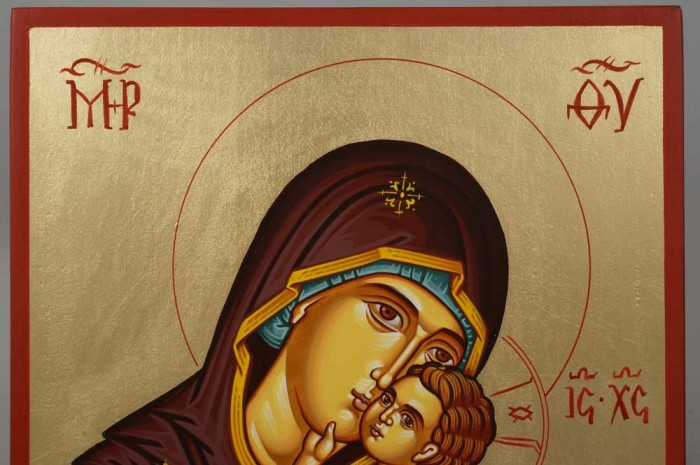 Theotokos Sweet Loving Hand-Painted Orthodox Icon