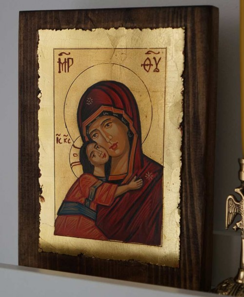Theotokos of Vladimir Hand Painted Orthodox Icon