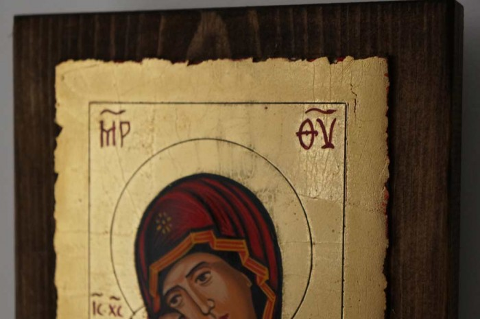 Vladimirskaya Mother of God small Hand Painted Icon