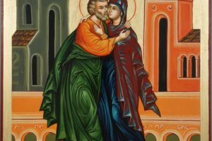 Conception of the Theotokos St Joachim Anna Anne Hand-Painted Orthodox Icon