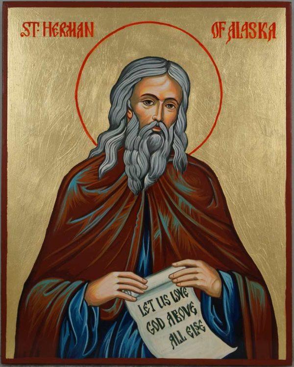 Saint Herman of Alaska Hand-Painted Orthodox Icon