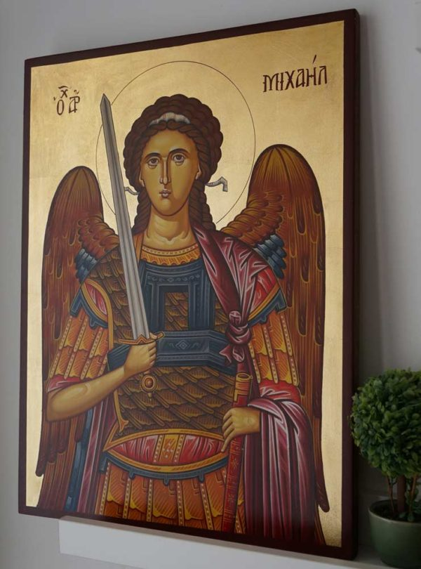 St Archangel Michael (Large) Hand-Painted Orthodox Icon