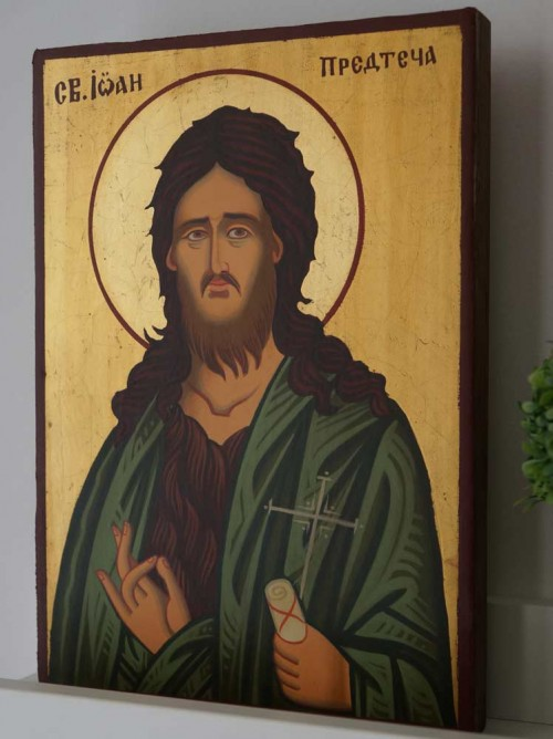 St John the Baptist (small) Hand-Painted Orthodox Icon