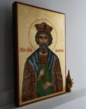 Saint Vladimir the Great Hand-Painted Russian Orthodox Icon