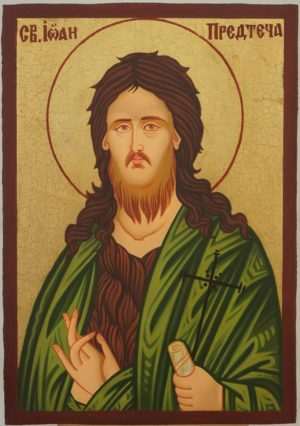St John the Baptist small Hand Painted Icon on Wood