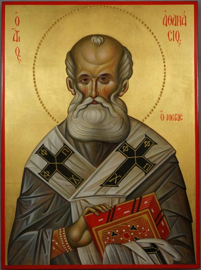 St Athanasius Patriarch of Alexandria Hand-Painted Greek Icon