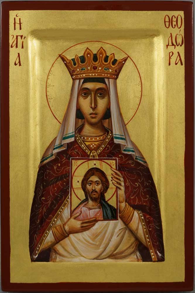 St Theodora the Empress Hand-Painted Orthodox Icon