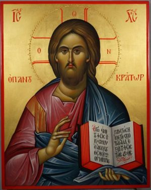 Christ the Teacher (Pantokrator) Hand-Painted Orthodox Byzantine Icon