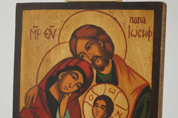 Holy Family small Icon Hand Painted Byzantine Orthodox