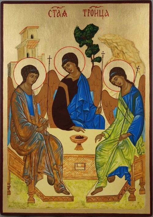 Hospitality of Abraham Rublev Trinity Hand Painted Orthodox Icon