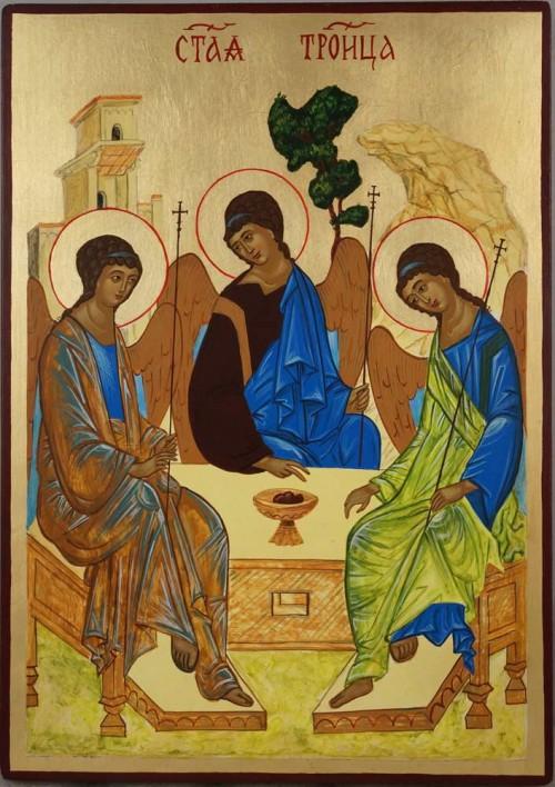 Hospitality of Abraham Rublev Trinity Hand Painted Orthodox Icon