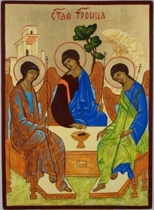 Hospitality of Abraham Rublev Trinity Icon Hand Painted Byzantine Orthodox