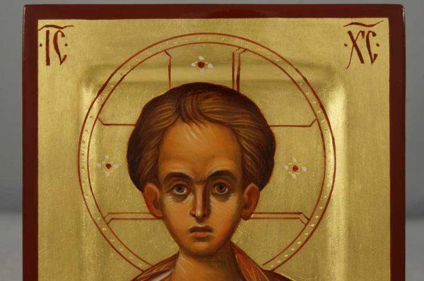 """Christ """"Emmanuel"""" (miniature) Hand-Painted Orthodox Icon"""