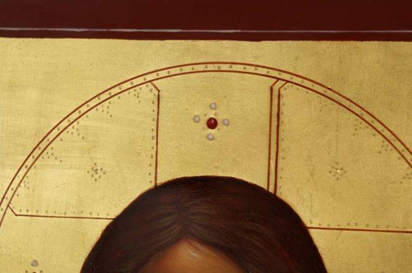 Jesus Christ Pantokrator (closed book) Hand-Painted Byzantine Icon