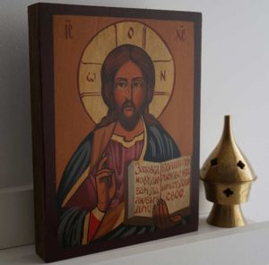 Jesus Christ Pantokrator (small) Hand-Painted Orthodox Icon