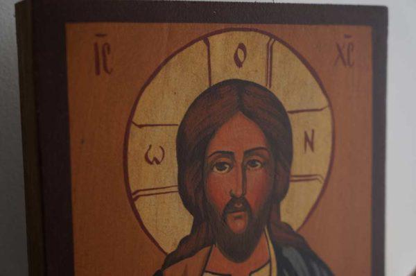 Jesus Christ Pantokrator (small) Hand-Painted Orthodox Icon