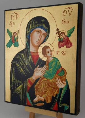 Our Lady of Perpetual Help OLPH Icon Hand Painted Byzantine Orthodox