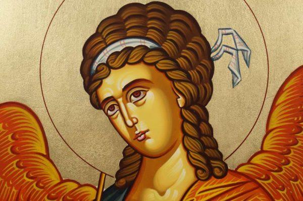 Hand-Painted Orthodox Icon of Saint Archangel Gabriel