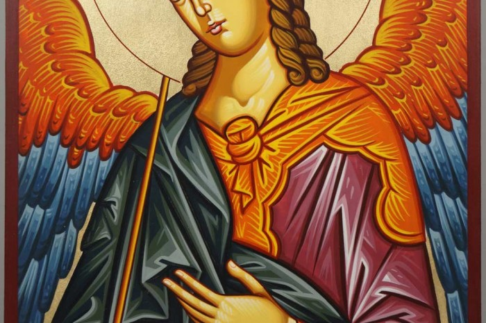 Hand-Painted Orthodox Icon of Saint Archangel Gabriel