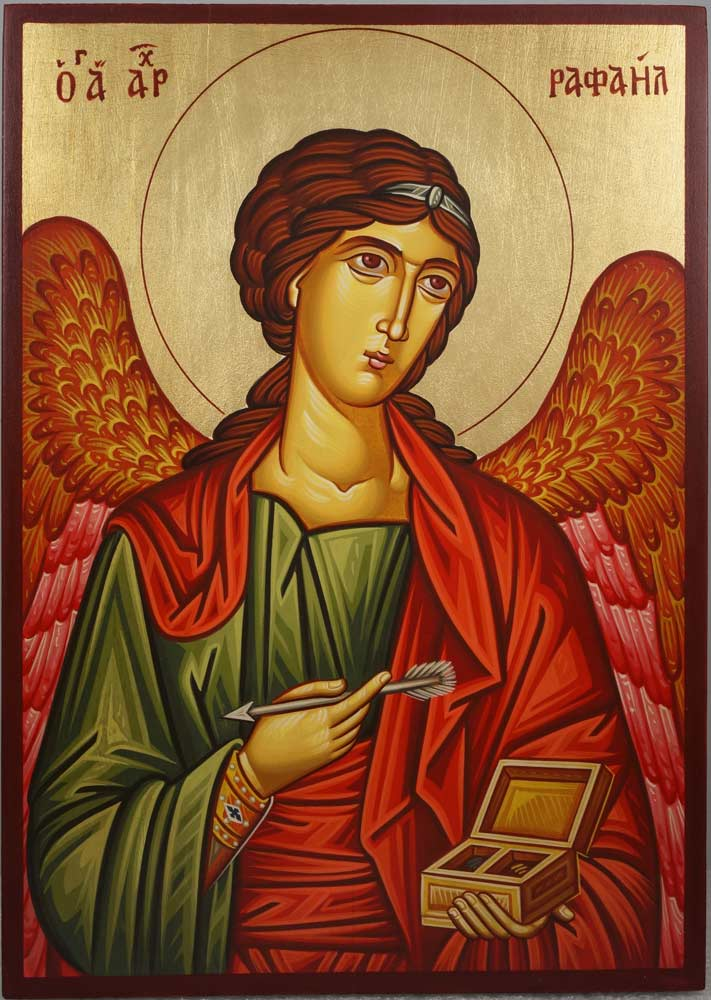 St Saint Archangel Raphael Hand-Painted Orthodox Icon
