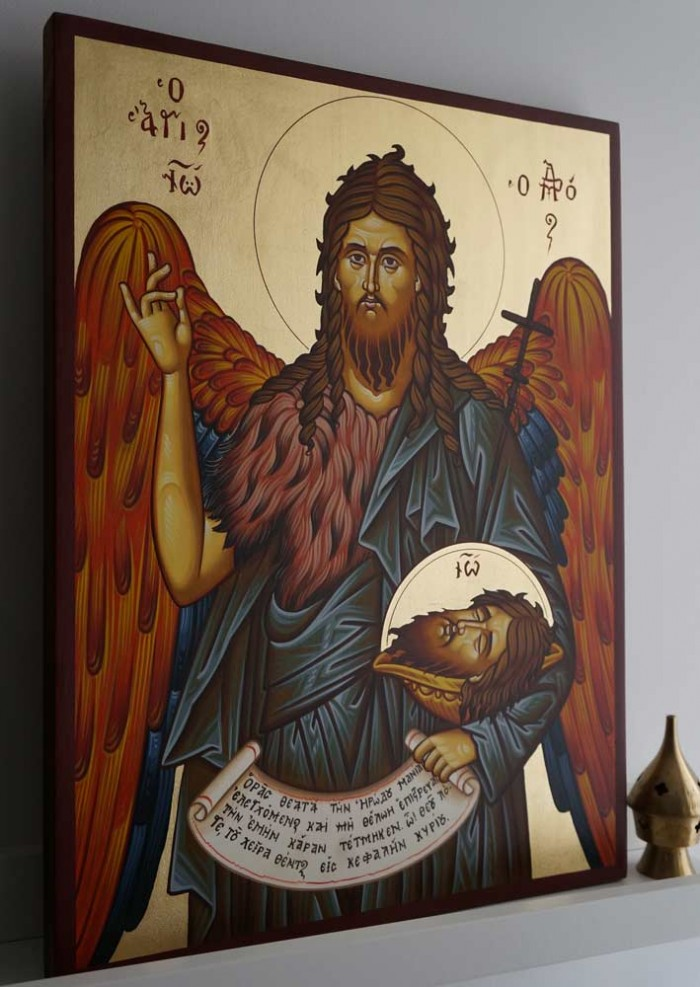 St John the Forerunner Baptist Hand-Painted Greek Orthodox Icon