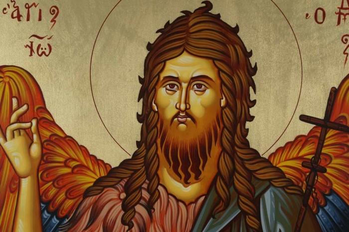 St John the Forerunner Baptist Hand-Painted Greek Orthodox Icon