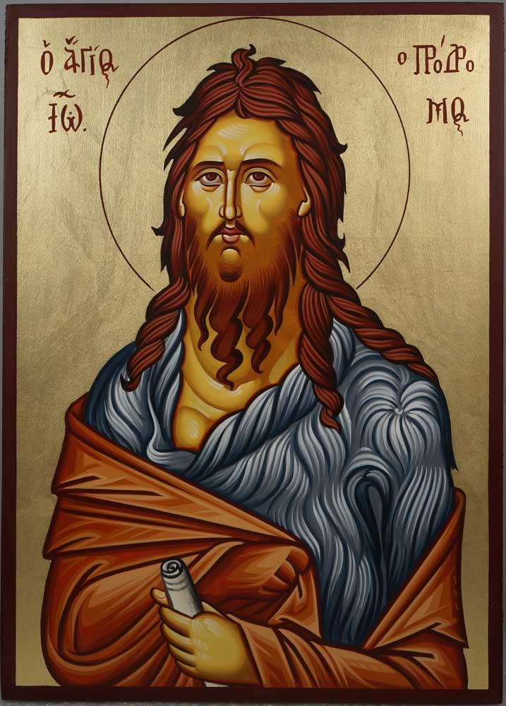 Saint St Prophet John Baptist Hand-Painted Orthodox Icon