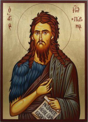 Saint St Prophet John Baptist Hand-Painted Orthodox Icon