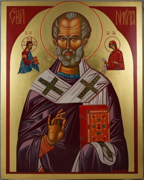 St Saint Nicholas of Myra Hand-Painted Byzantine Orthodox Icon