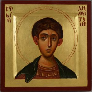 St Demetrius of Thessaloniki Hand-Painted Greek Icon
