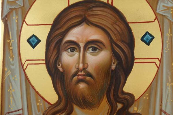 "The Holy Face ""Ubrus"" Mandylion Hand-Painted Byzantine Icon"