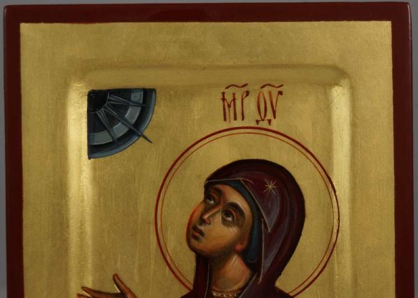 "Virgin Mary Theotokos ""Supplication"" Hand-Painted Byzantine Icon"