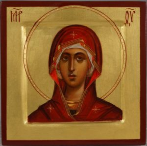 Virgin Mary (miniature) Theotokos Hand-Painted Byzantine Orthodox Icon