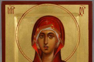 Virgin Mary (miniature) Theotokos Hand-Painted Byzantine Orthodox Icon