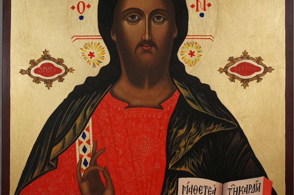 Christ the Teacher Large Hand Painted Orthodox Icon Pantocrator