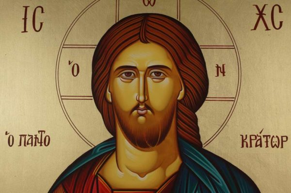 Christ the Merciful Pantocrator Hand-Painted Greek Orthodox Icon