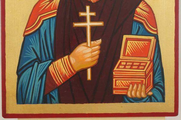 Saint Panteleimon the Healer Hand Painted Orthodox Icon on Wood